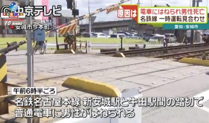 &nbspHombre muere atropellado por tren en Aichi