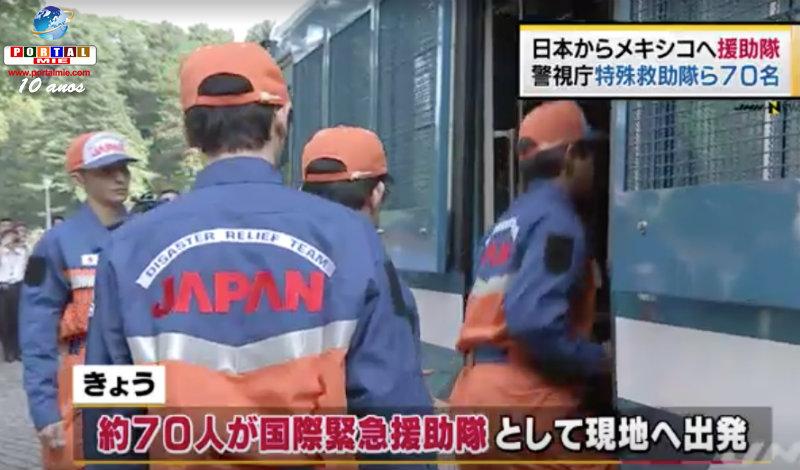 Equipo japonés de rescate parte a México