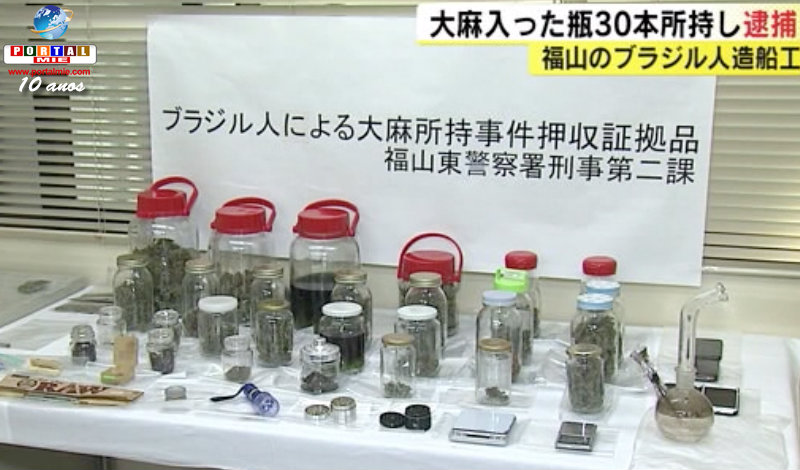 Brasileños presos por posesión de más de 1 Kg de marihuana
