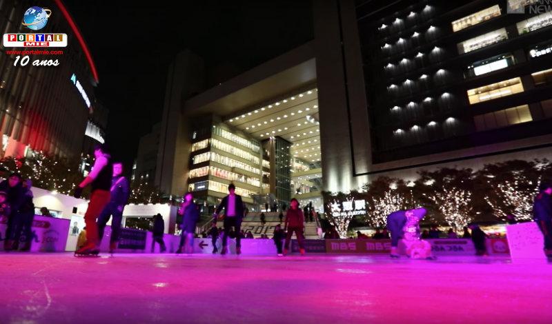 Abierta la temporada de patinaje sobre hielo en Osaka