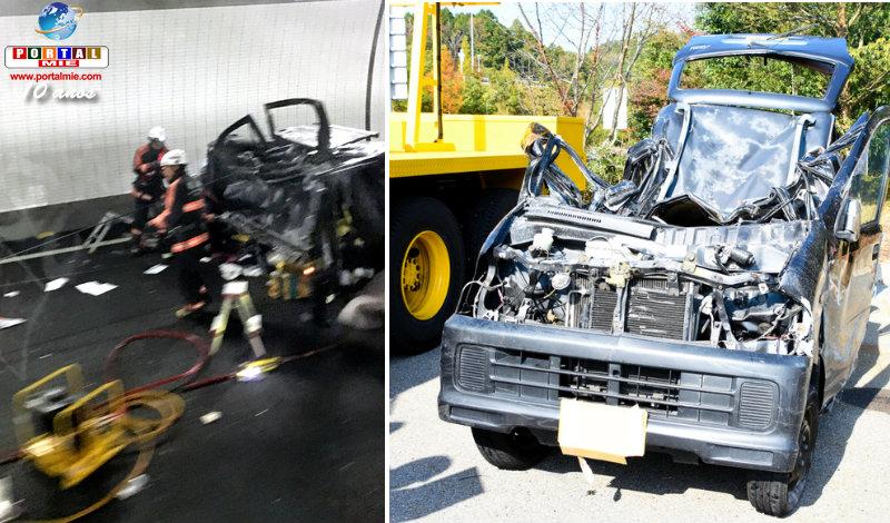 &nbspAccidente con tres vehículos en Shin Meishin provoca 2 muertes
