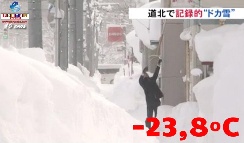 &nbspHokkaido con temperatura de -23,8ºC, récord en 19 años