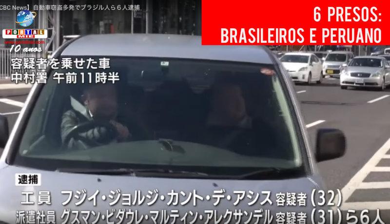 Banda de brasileños y peruanos presa en Nagoya