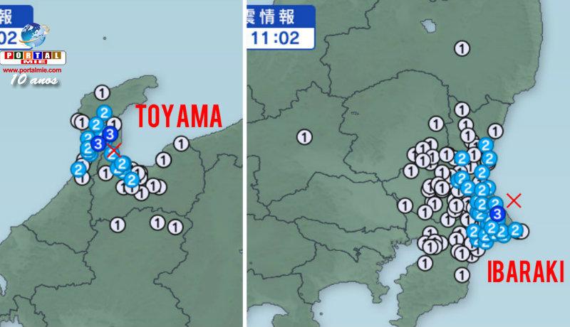 Dos temblores en el mismo horario: Toyama e Ibaraki