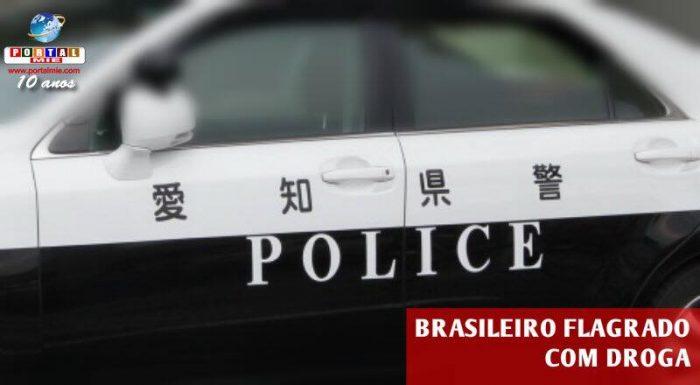 &nbspPolicía de Aichi flagra brasileño con droga