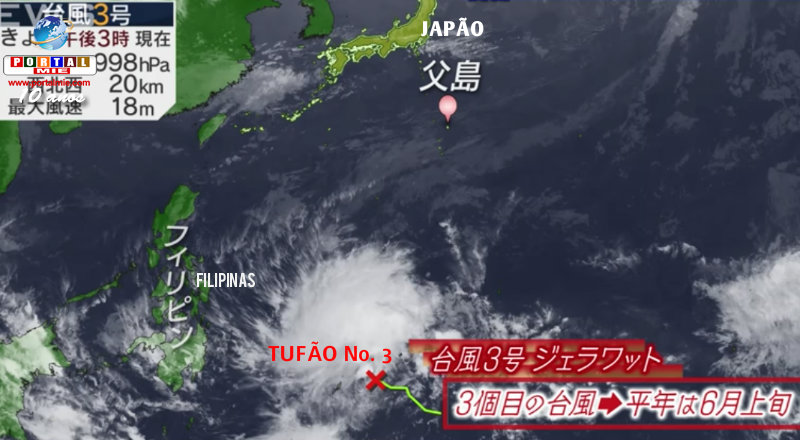 Después de la anticipación del sakura, ahora tifón n.º 3