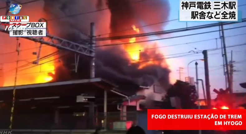 Incendio destruye estación de tren