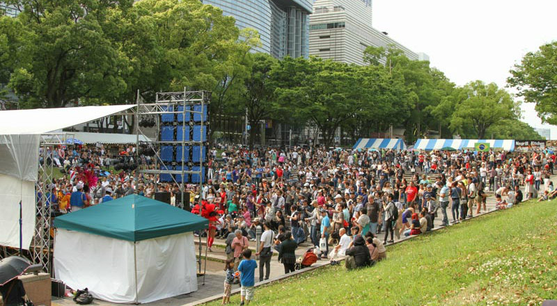 Festival latinoamericano en Nagoya en el Golden Week
