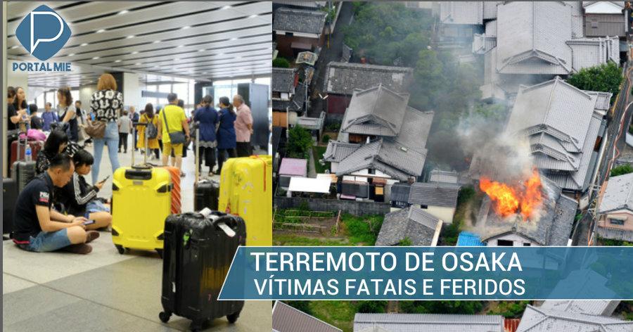 &nbspSismo de Osaka: 3 muertos y 51 heridos