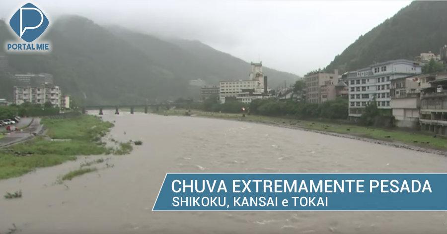 &nbspLluvia extremamente pesada hasta el fin de semana en Kansai y Tokai