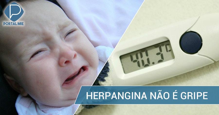 &nbspFiebre en los niños puede no ser gripe  sino herpangina
