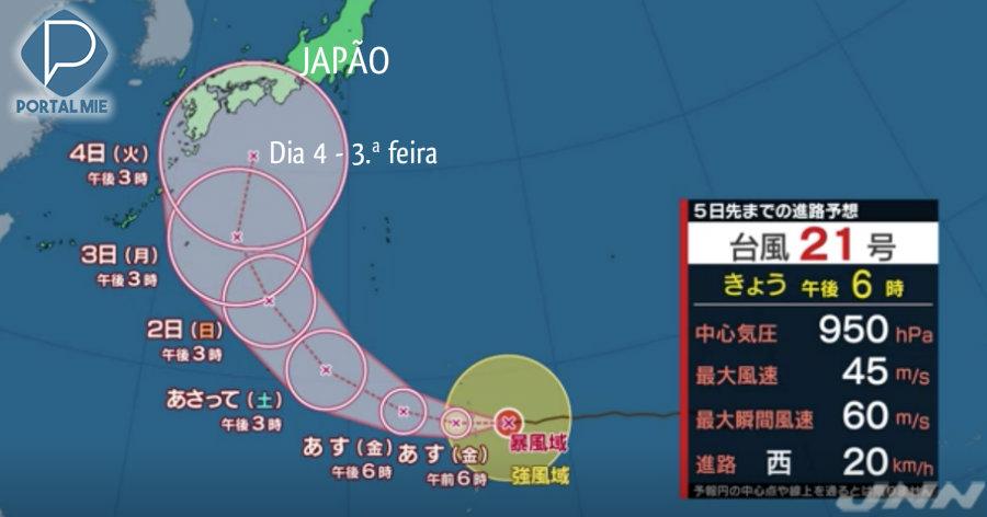 Tifón n.º 21 gana potencia y podrá ser uno de los peores del año
