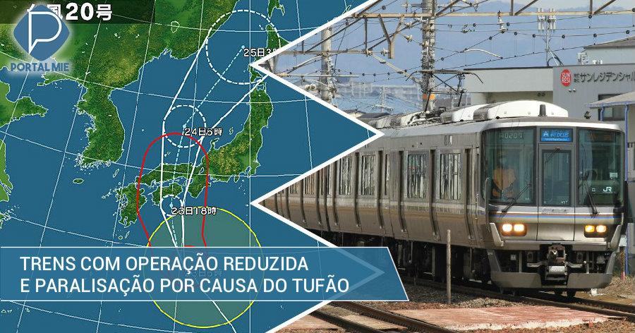 &nbspTifón súper fuerte n.º 20: compañías de trenes informan paralización