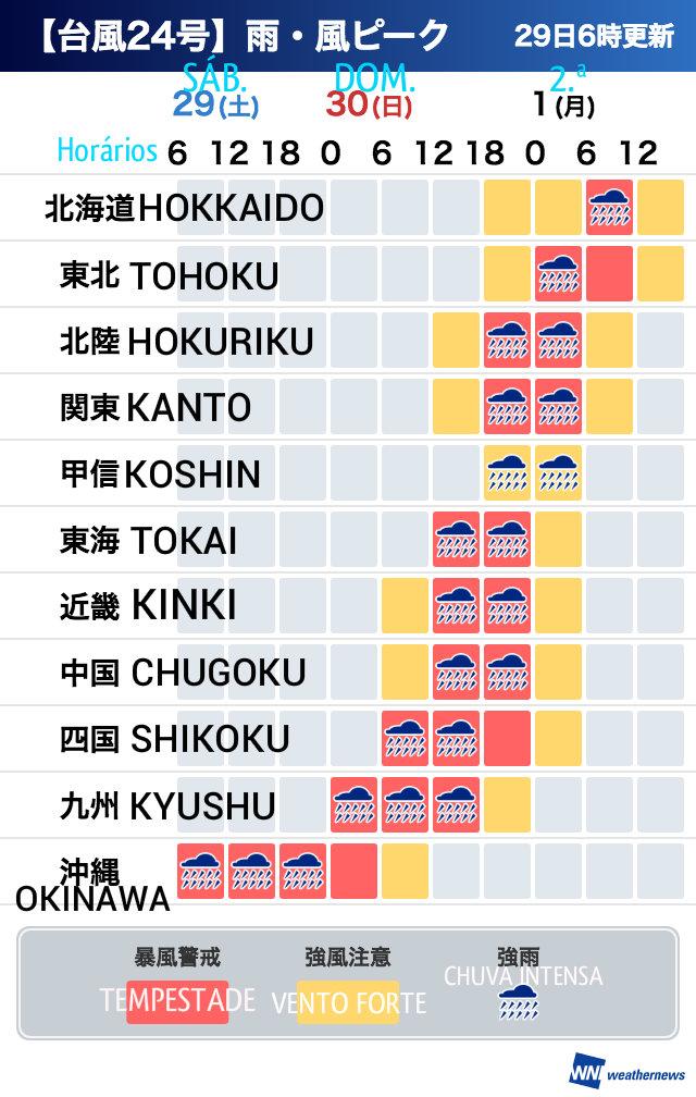 &nbspTemido tifón Trami, peor que el n.º 21: previsiones para todo Japón