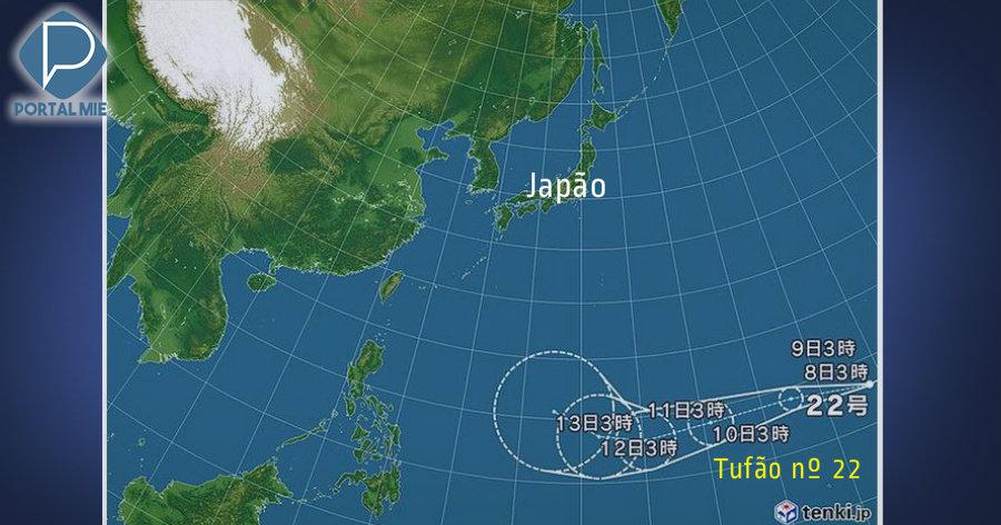 Formación del tifón número 22