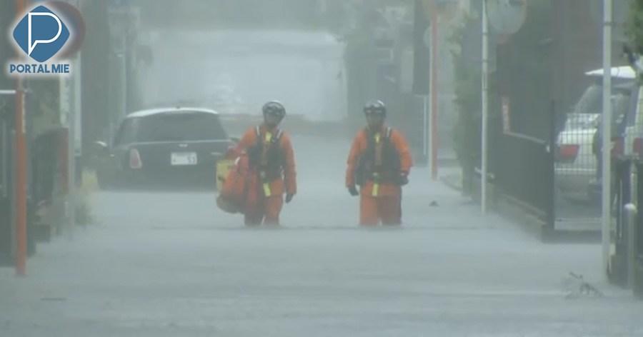 &nbspCalles inundadas en área de Shizuoka