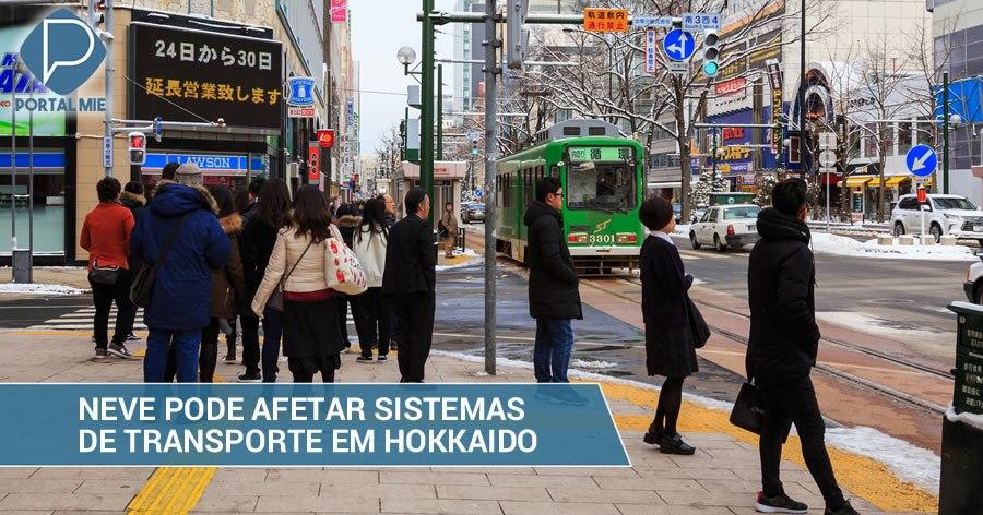 &nbspNieve puede afectar el funcionamiento de los transportes en Hokkaido