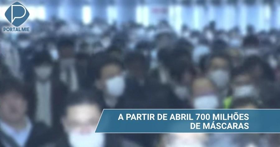 &nbspGobierno informa sobre 700 millones de mascarillas en abril
