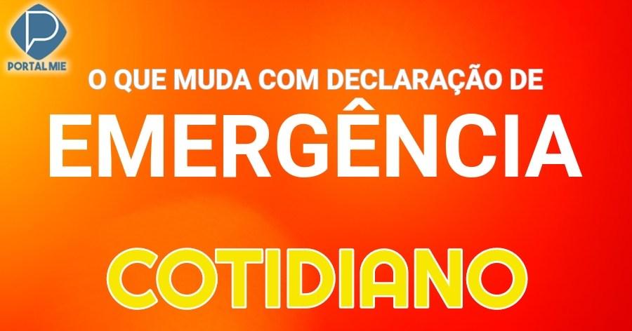 &nbspLo que cambia y no cambia en lo cotidiano con la declaración de emergencia
