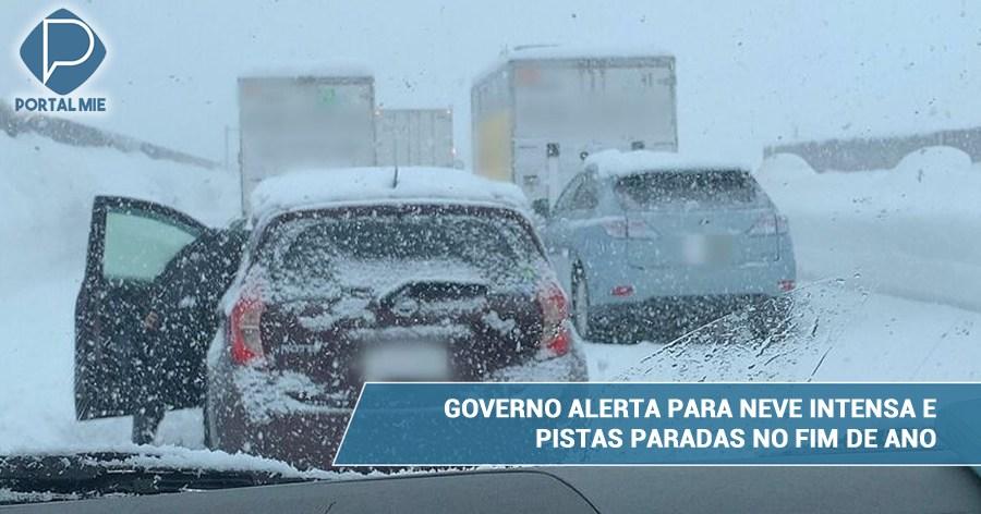 &nbspGobierno alerta de histórica nieve y peligro de accidentes