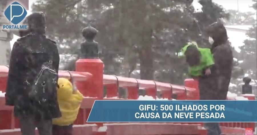 &nbspNieve pesada deja a más de 500 personas aisladas en Gifu