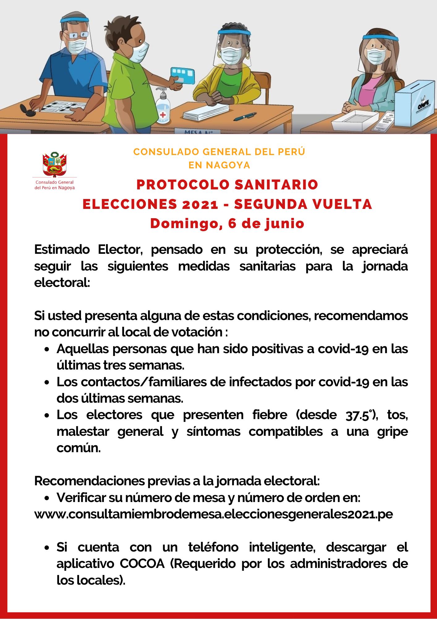&nbspProtocolo Sanitario Elecciones 2021-Perú