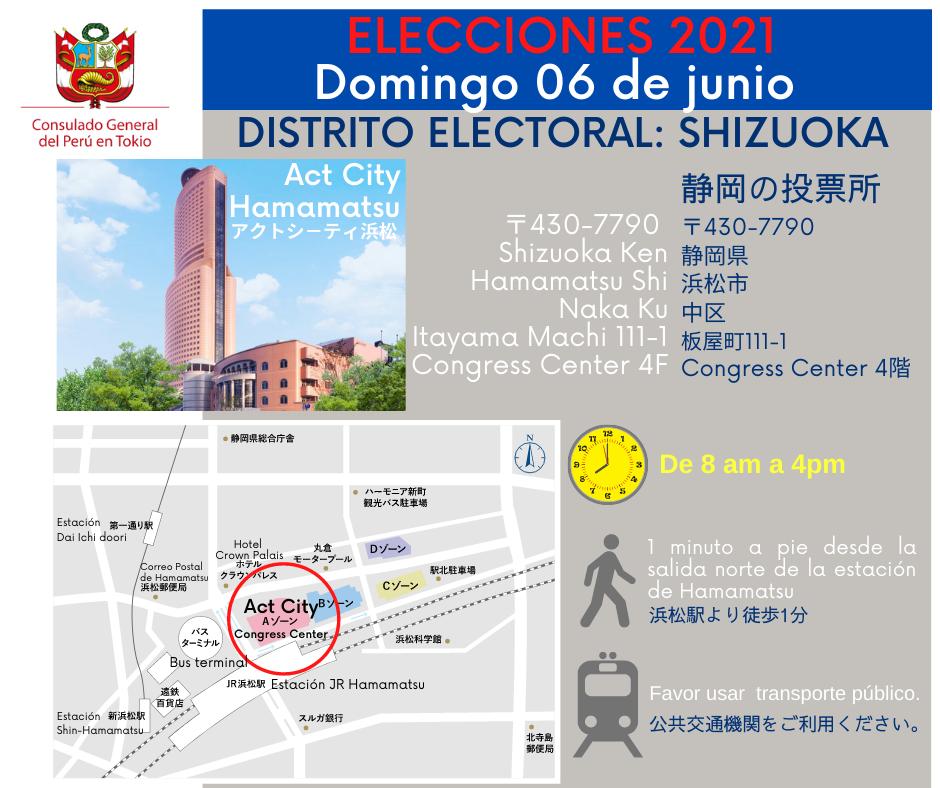 &nbspLocales de Votación de la Jurisdicción del Consulado del Perú en Tokio