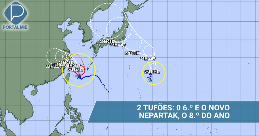 &nbspCon el de número 8, Japón está con 2 tifones